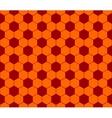 Seamless football pattern red orange EPS 10 vector image