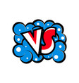 versus letters logo in cartoon style vector image