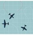 Flying planes vector image vector image