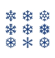 snowflake blue icons set vector image