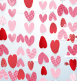 Cute hearts hang in the sky valentines day concept vector image