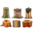 Different tree stumps vector image