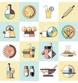 Cooking food icons flat line vector image