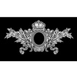 antique crown royal frame vector image vector image