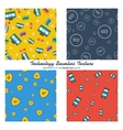 Four seamless patterns online shopping and mobile vector image