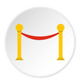 barrier rope icon circle vector image
