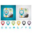 Customizable map location icon vector image