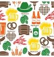 Oktoberfest pattern vector image