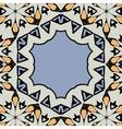 Ornamental frame border with copyspace Mandala vector image