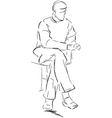 Sitting man vector image