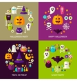 Happy Halloween Concepts Set vector image