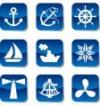 sail icons vector image