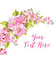 spring card with sakura flowers vector image