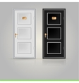 Closed doors vector image