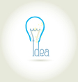 Bulb light idea vector image vector image