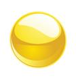 shiny sphere 02 yellow vector image