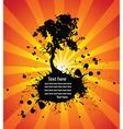 tree grunge vector image vector image