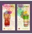 Artistic decorative cocktail poster vector image