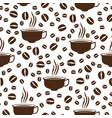 coffee cap pattern vector image vector image
