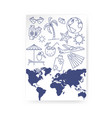 abstract world map banner vector image