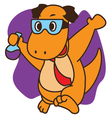Dinosaur Genius vector image