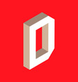 isometric letter d vector image