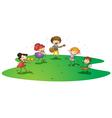 kids enjoying music vector image