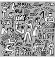 raphip hop graffiti - doodles set vector image