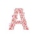 Romantic floral letter A vector image