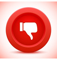 thump up red button vector image