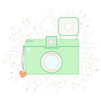 Vintage summer photo camera card vector image