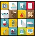 Medicine icons set flat style vector image