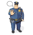 Police officer with baton vector image
