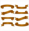 Set of beautiful festive gold ribbons vector image