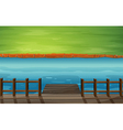 Cartoon River Dock vector image