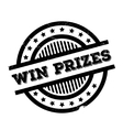 Win prizes rubber stamp vector