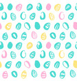 easter eggs trendy seamless pattern vector image vector image