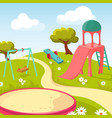 recreation children park with play equipment vector image