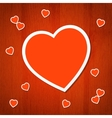 Heart back 7 vector image vector image