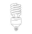 hand-drawn lightbulb vector image