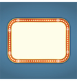 Retro Banner with Lights vector image