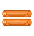 Infographic design element vector image