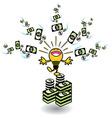 ideas making money vector image