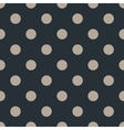 Polka dot seamless pattern on black background vector image