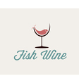 fish in wineglass vector image