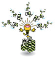 ideas making money vector image