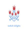 ottoman turkish tulips vector image