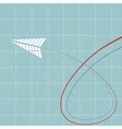 Flying paper plane vector image vector image