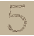 number five created from text vector image