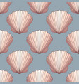 seashells seamless decorative background vector image